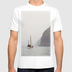 Sailboat MEDIUM Mens Fitted Tee White