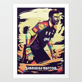 Gianluigi Buffon on WPAP Pop Art Portrait Art Print