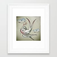 sparrow Framed Art Prints featuring Sparrow by Vin Zzep
