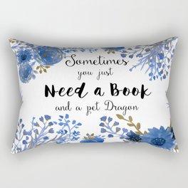 Need Books & Dragons Rectangular Pillow