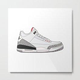 Jordan 3 - White Cement Metal Print