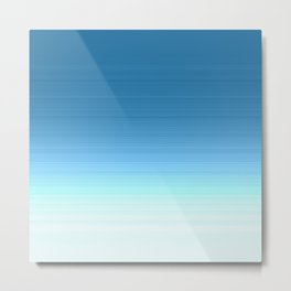 Sea blue Ombre Metal Print