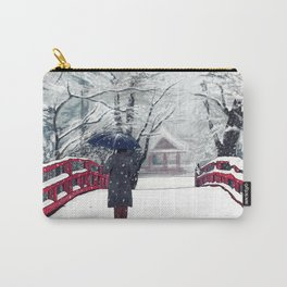 Footprints in Snow Carry-All Pouch