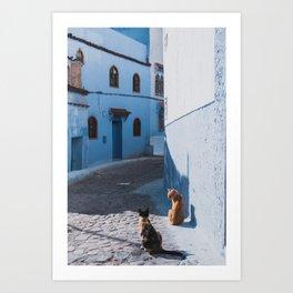 Blue city Chefchouen Morocco Art Print
