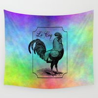 rooster Wall Tapestries featuring Rooster by Angelandspot