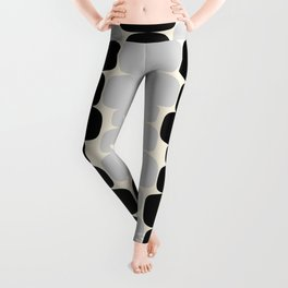 Abstraction_Balance_ROCKS_BLACK_WHITE_Minimalism_001 Leggings