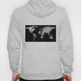 World Map Silhouette - The Great Wave Off Kanagawa Hoody