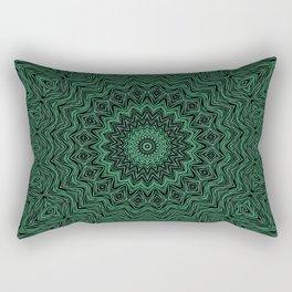 Black and green kaleidoscope Rectangular Pillow