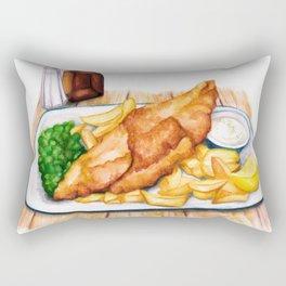 Fish & Chips Rectangular Pillow