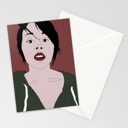 Her words are dripping with genius Stationery Cards
