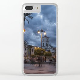 Sundown, Plaza Mayor Merida Spain Clear iPhone Case
