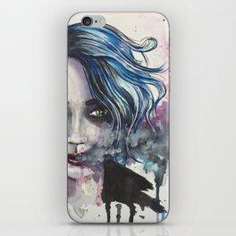 Smoke Girl iPhone Skin