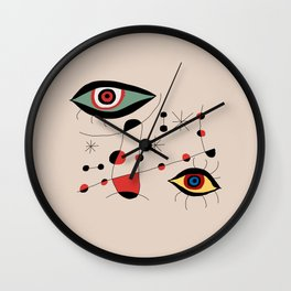 Tribute to J. Mirò (n.1) Wall Clock