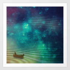 The Space Fisherman Art Print