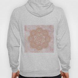 Rose gold mandala - pink marble Hoody