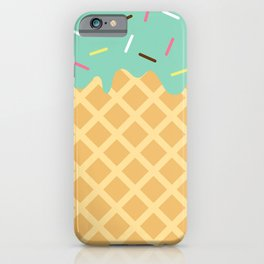 Mint Ice Cream with Sprinkles iPhone Case