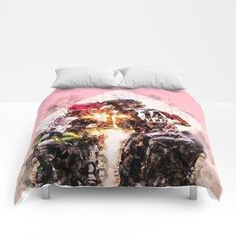 Bikers in love Comforters