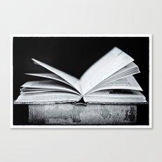 An Open Book Canvas Print