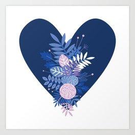 Feelings (Blue) Art Print