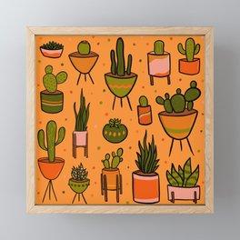 Modern Cactus Framed Mini Art Print