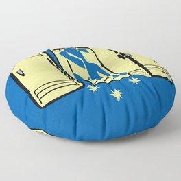 Blue (is shoved in a locker) Floor Pillow