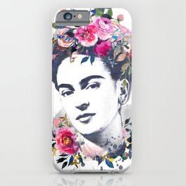 Watercolor Frida Kahlo iPhone Case