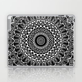 Detailed Black and White Mandala Laptop & iPad Skin