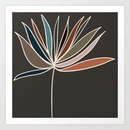 Minimal Floral #1 Art Print