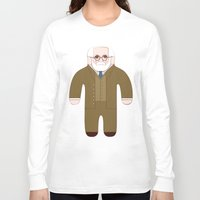 freud Long Sleeve T-shirts featuring Sigmund Freud by Late Greats by Chen Reichert