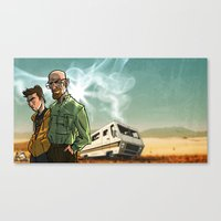 breaking bad Canvas Prints featuring Breaking Bad by Adrien ADN Noterdaem