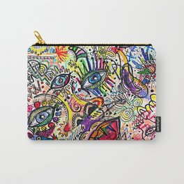 Watercolor pencil doodle Carry-All Pouch