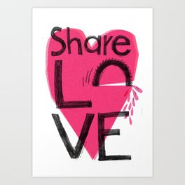 Share love Art Print