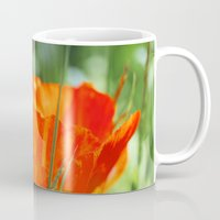 poppy Mugs featuring Poppy by Falko Follert Art-FF77
