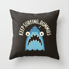 Great White Snark Throw Pillow