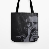 harry Tote Bags featuring Harry  by Jen Eva
