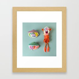 Anatomy of Small Ear Squid & Deep Water Clams Framed Art Print