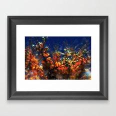infinite fruits Framed Art Print