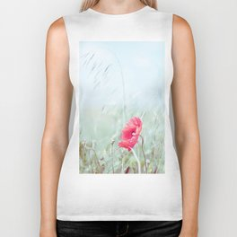 Thoughtful Poppy Biker Tank