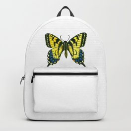 Tiger swallowtail butterfly watercolor and ink Backpack