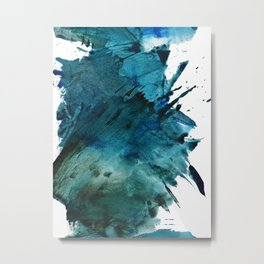 Scenic Route [2]: a pretty, minimal abstract piece in blue and green by Alyssa Hamilton Art Metal Print