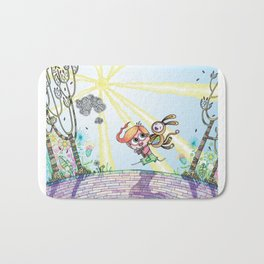 Laughing Along the Path - One Boy and a Toy Bath Mat