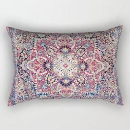 Kashan Central Persian Rug Print Rectangular Pillow