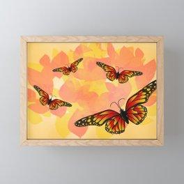 Yellow Butterflies Framed Mini Art Print