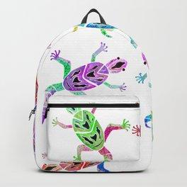 Gecko Blue YellowWatercolor Backpack