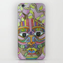 Pussy Willow Lady iPhone Skin
