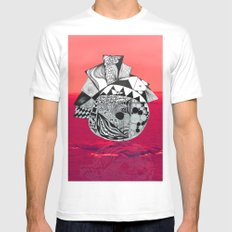 Orb in sea Mens Fitted Tee MEDIUM White
