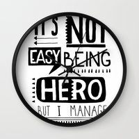 hero Wall Clocks featuring hero by ulas okuyucu