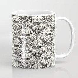 Watercolor Skull Moth Damask Repeat Coffee Mug