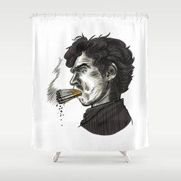 London Smoking Habit Shower Curtain