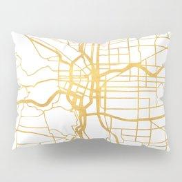 PORTLAND OREGON CITY STREET MAP ART Pillow Sham